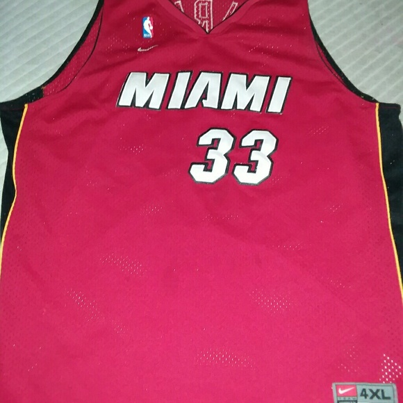 promo code 598f8 862ce Alonzo Mourning Miami Heat Throwback Jersey